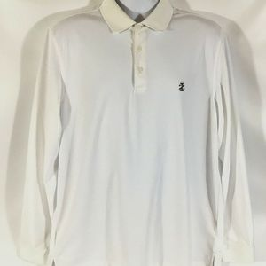 IZOD Golf Mens Shirt Size Large White Long Sleeve